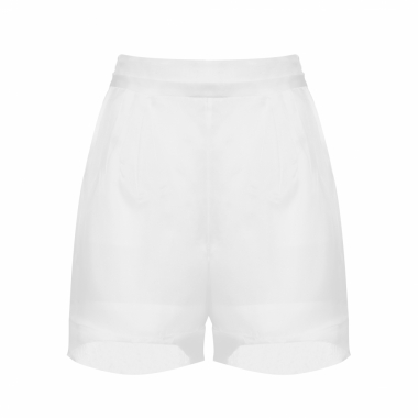 Short Feminino Organza - Off White