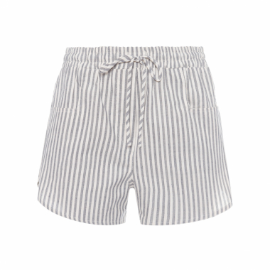 Short Feminino Sport Listras - Off White