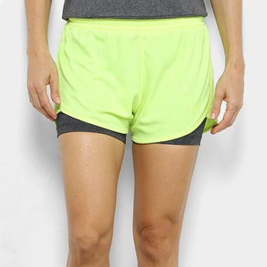 Short Fila Double Training Feminino-Feminino
