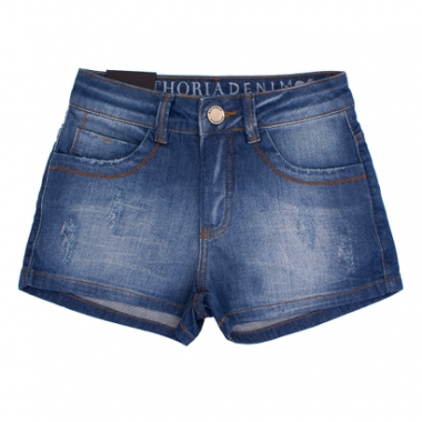 Short Jeans Confort Authoria Com Esmeril-Feminino