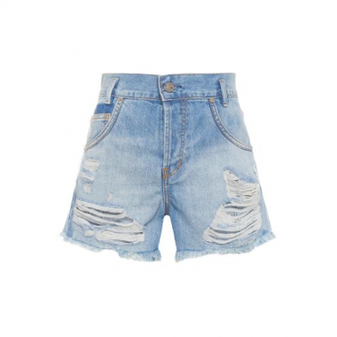 Short New Ripped Vintage Animale - Azul