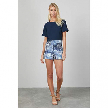 Shorts Est Snake Blue-Estampada - G
