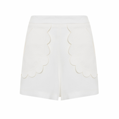 Shorts Feminino Hendrix - Off White
