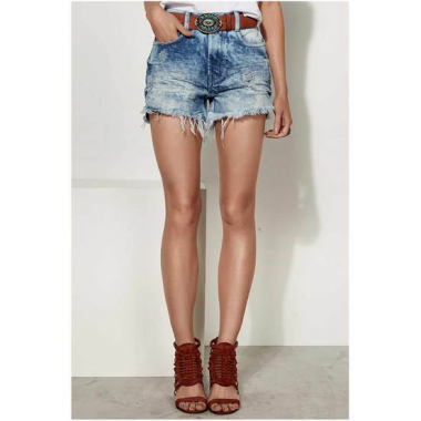 Shorts Jeans Com Base Pin Up Loose Dzarm