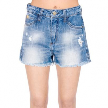 Shorts Jeans Destroyed Colcci-Feminino