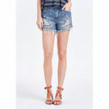 Shorts Jeans Destroyed Com Spikes
