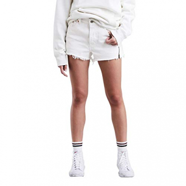 Shorts Jeans Levis 501 Altered Zip Branco