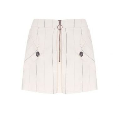Shorts Listrado Shoulder - Off White