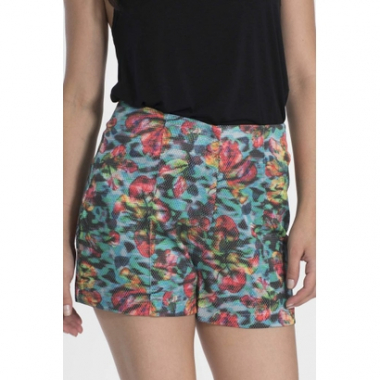 Shorts My Place Hot Pants Estampado-Feminino