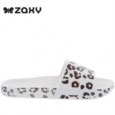 Slide Zaxy Animal Print Branco