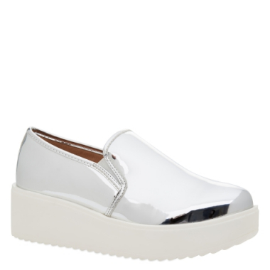 Slip-On Flatform Metalizado