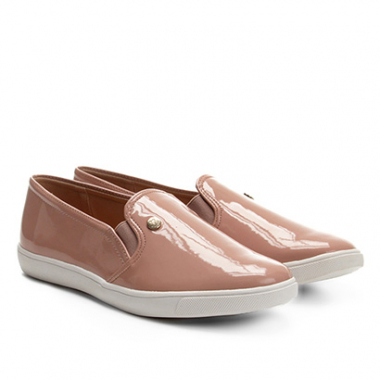 Slip On Via Uno Verniz Feminino-Feminino