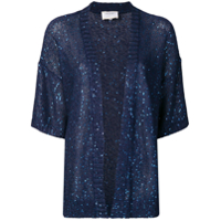 Snobby Sheep Blue Sequin Cardigan - Azul