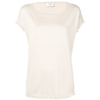 Snobby Sheep Blusa Com Franjas Na Barra - Neutro