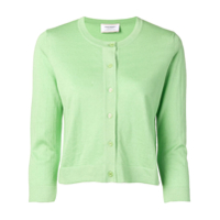 Snobby Sheep Cropped Sleeve Cardigan - Verde