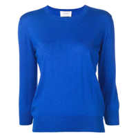 Snobby Sheep Cropped Sleeve Sweater - Azul