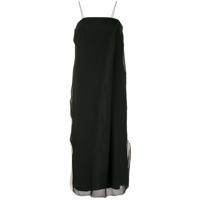Song For The Mute Vestido Bicolor - Preto