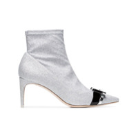 Sophia Webster Ankle Boot 'andie 70' Com Brilho - Metálico