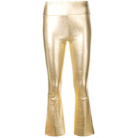 Sprwmn Cropped Fitted Trousers - Dourado
