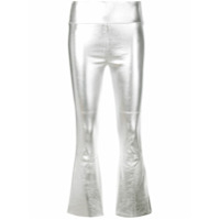 Sprwmn Cropped Fitted Trousers - Prateado