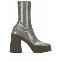 Stella Mccartney Ankle Boot Com Plataforma - Cinza