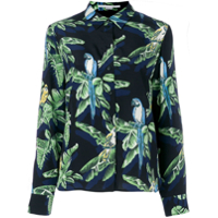 Stella Mccartney Camisa Com Estampa Tropical - Preto