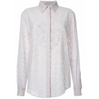 Stella Mccartney Camisa De Renda Floral - Branco