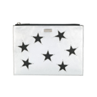 Stella Mccartney Clutch 'star' Metalizada - Metálico