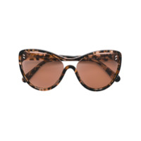 Stella Mccartney Eyewear Óculos De Sol Oversized - Marrom