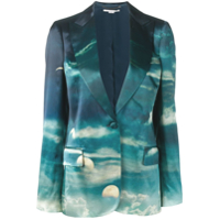 Stella Mccartney Blazer Com Estampa - Azul