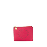 Stella Mccartney Perforated Logo Clutch - Rosa