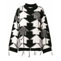 Stella Mccartney Suéter 'check Volume' - Preto