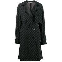 Stella Mccartney Trench Coat Com Estampa De Logo - Preto