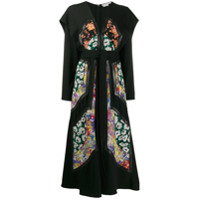 Stella Mccartney Vestido Midi Com Patch Floral - Preto