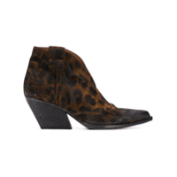 Strategia Bota Cowboy Com Animal Print - Marrom