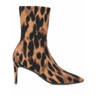 Stuart Weitzman Ankle Boot Animal Print - Marrom