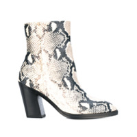Stuart Weitzman Ankle Boot Com Estampa De Cobra 'wynter' - Branco