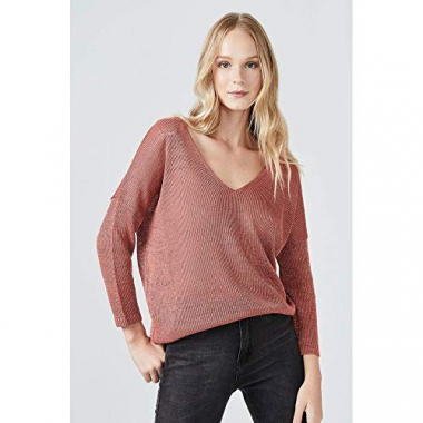 Sueter Tricot Lurex-Rose Tan - M