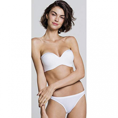 Sutia Bojo Bustie Push Up Branco - 48