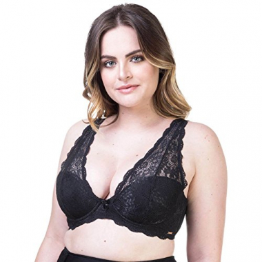 Sutiã Top Plus Renda Preto | 534.183 Preto - 46