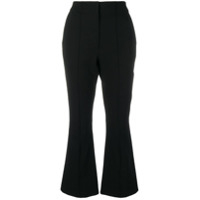 T By Alexander Wang Calça Flare Cropped - Preto