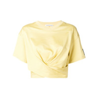T By Alexander Wang Camiseta Cropped - Amarelo