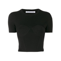T By Alexander Wang Camiseta Cropped - Preto