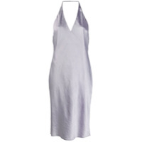 T By Alexander Wang Halter Neck Slip Dress - Roxo