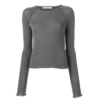 T By Alexander Wang Jersey Knitted Top - Cinza
