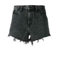 T By Alexander Wang Marbled Denim Shorts - Preto