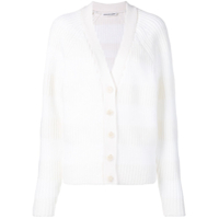 T By Alexander Wang Ribbed Knit Cardigan - Branco
