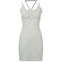 T By Alexander Wang Ruched Detail Dress - Cinza