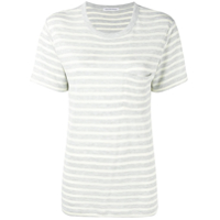 T By Alexander Wang Striped T-Shirt - Cinza