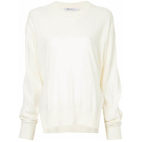 T By Alexander Wang Suéter Com Fenda Lateral - Branco